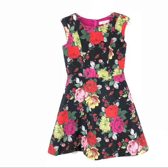 94fec85cd89ba Baker byTed Baker Girls dress floral roses black